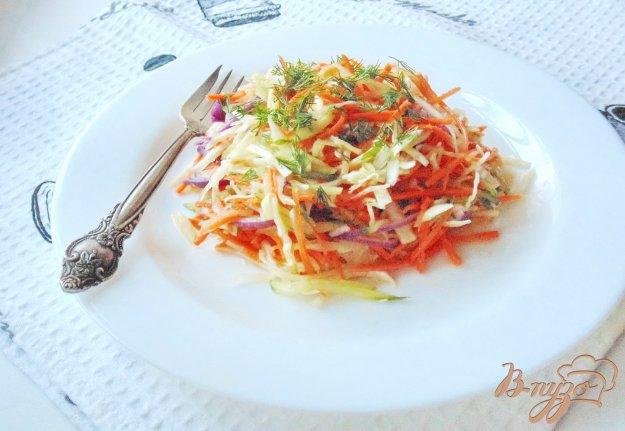 фото рецепта: Салат  с морковью, огурцом и капустой