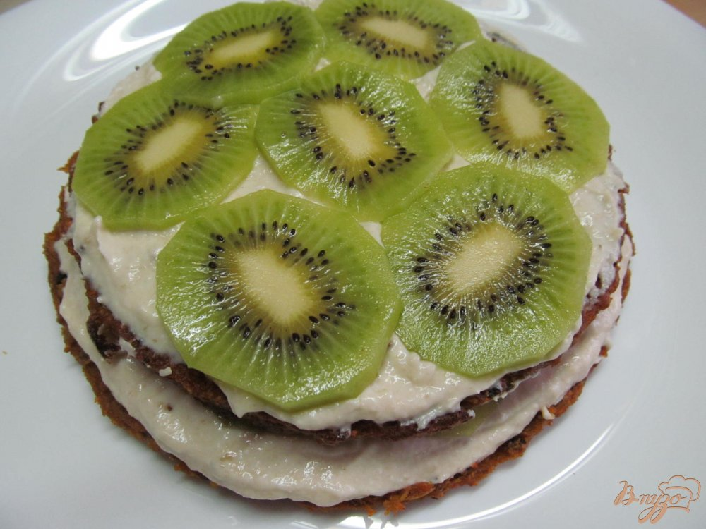 Торт из фруктов без сахара