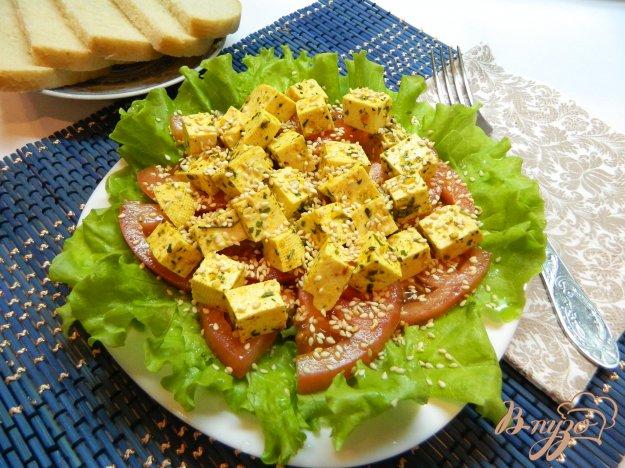 фото рецепта: Закуска из маринованного сыра тофу