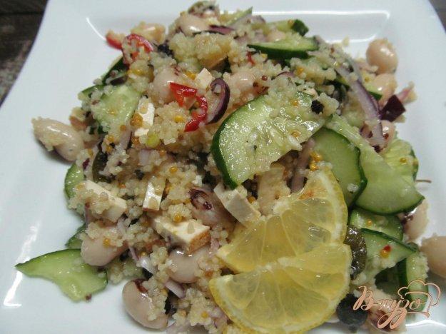фото рецепта: Салат с фасолью овощами и кус-кусом