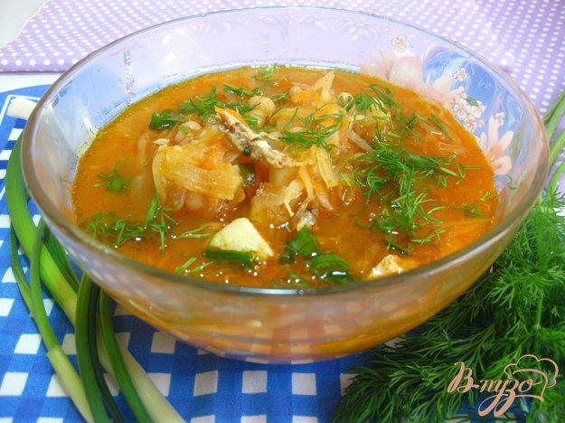 фото рецепта: Овощной суп с консервой и фасолью