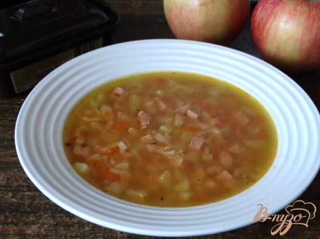 фото рецепта: Суп с ветчиной и рисом басмати