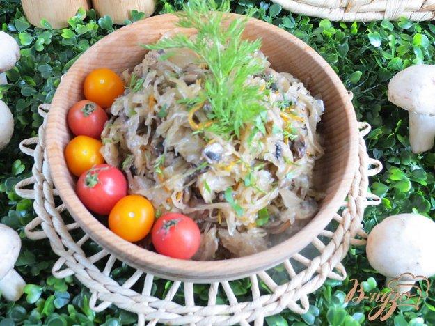фото рецепта: Квашеная капуста с грибами