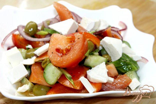 фото рецепта: Греческий салат с зеленым луком