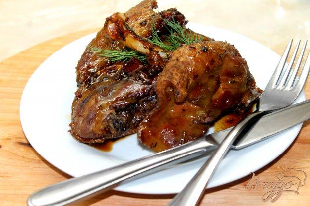 фото рецепта: Запеченные утиные ножки в медово - горчичном маринаде