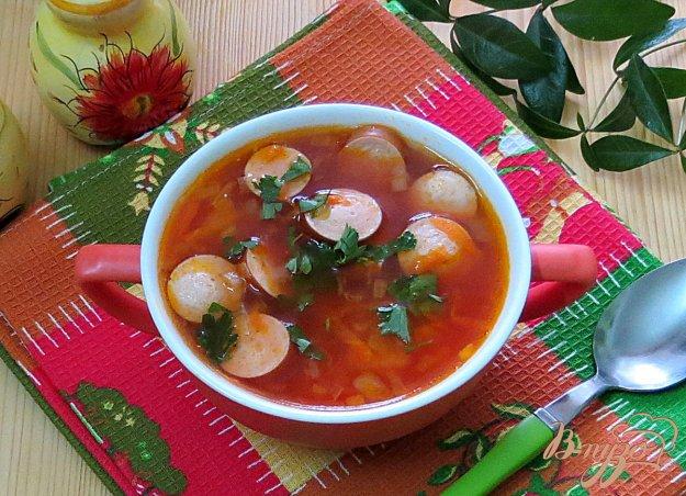 фото рецепта: Суп с сосисками и фасолью
