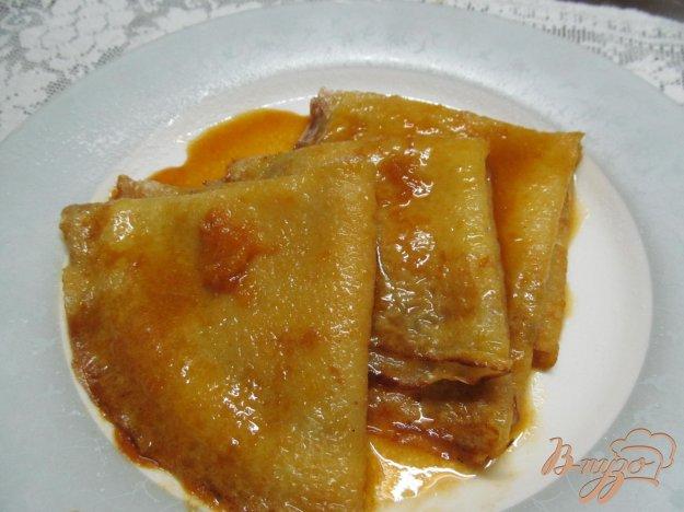 фото рецепта: Блинчики с мандариновым соусом