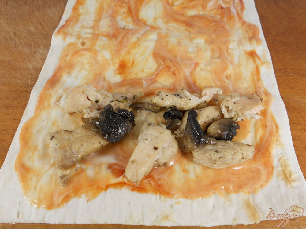 Рецепт лаваш с сыром и курицей с пошагово