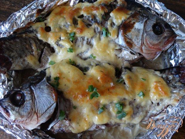 фото рецепта: Караси запеченные под сырной шубой