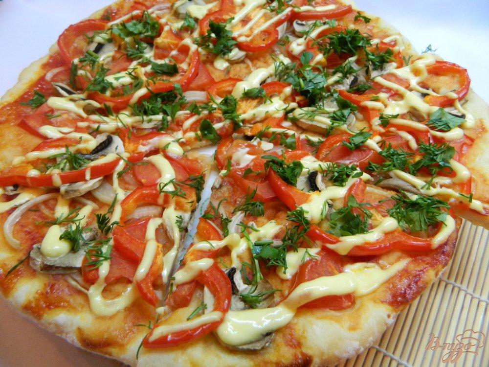 Пицца с грибами и помидорами и фаршем рецепт с пошагово в духовке