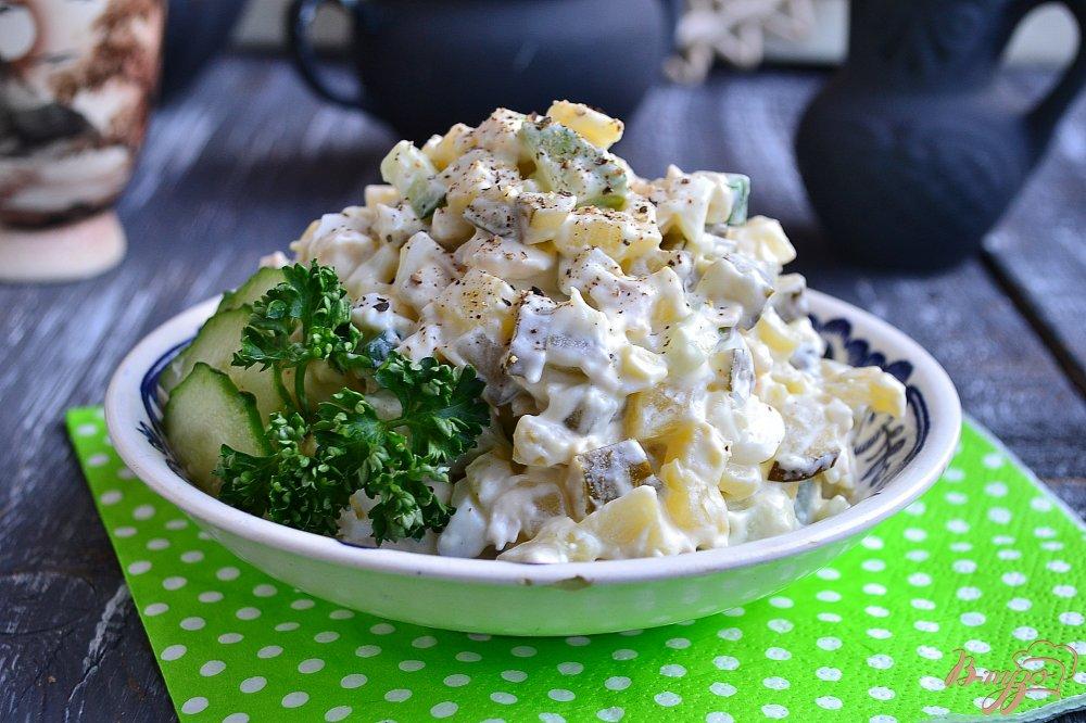 Салат с свежим огурцом и курицей рецепт с фото пошагово