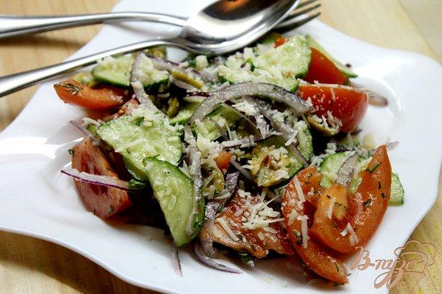 фото рецепта: Постный овощной салат с красным луком