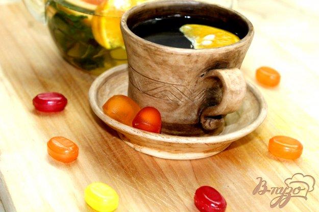 фото рецепта: Мятно - липовый час с лаймом и грейпфрутом