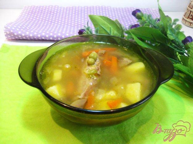 фото рецепта: Гороховый суп с ребрышками