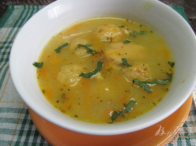 фото рецепта: Суп с картофельными фрикадельками