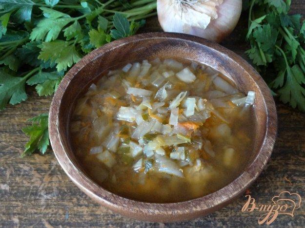 фото рецепта: Борщ без картофеля с сельдереем