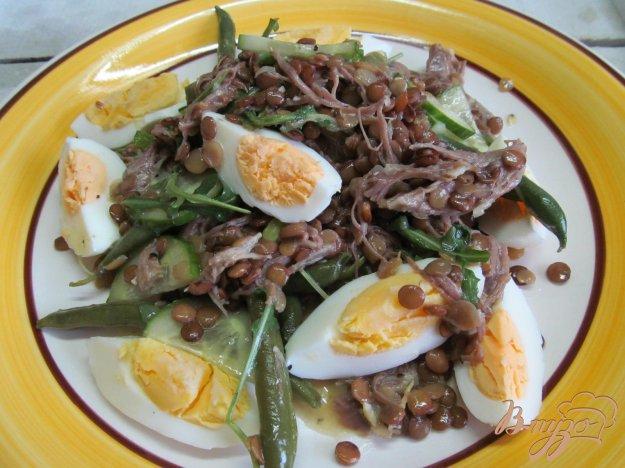 фото рецепта: Французский салат с чечевицей