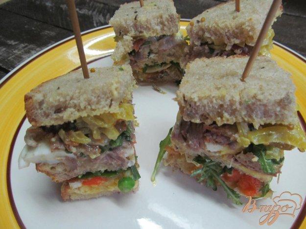 фото рецепта: Клаб-сэндвич -