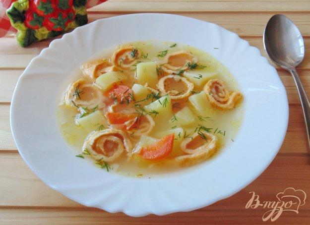 фото рецепта: Суп с яичными блинчиками