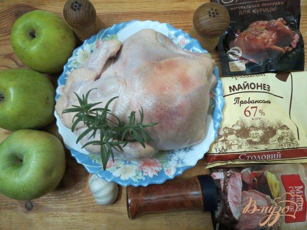 Курица фаршированная яблоками пошаговый рецепт