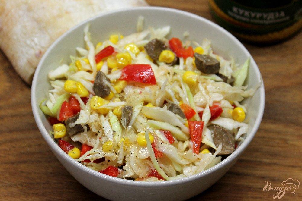 салат из пекинской капусты с печенью рецепт