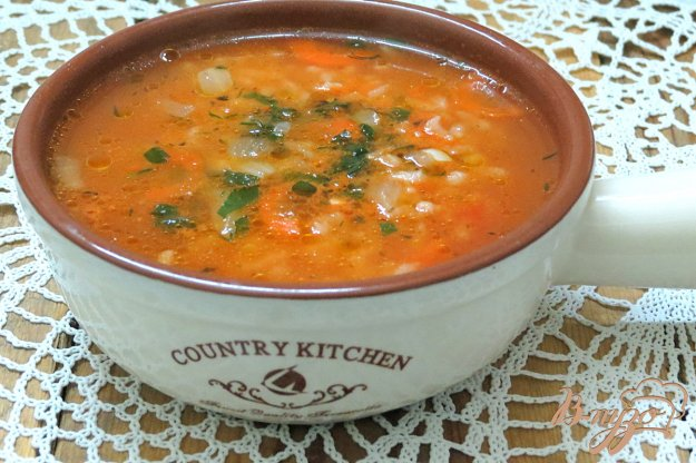 фото рецепта: Суп рисовый на бульоне
