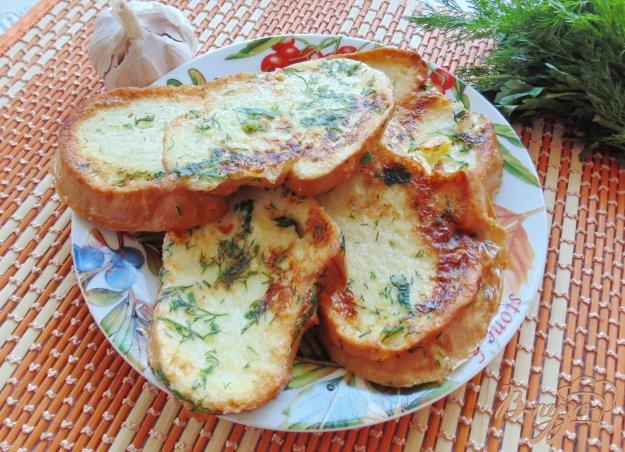 Рецепт гренок с зеленью и чесноком