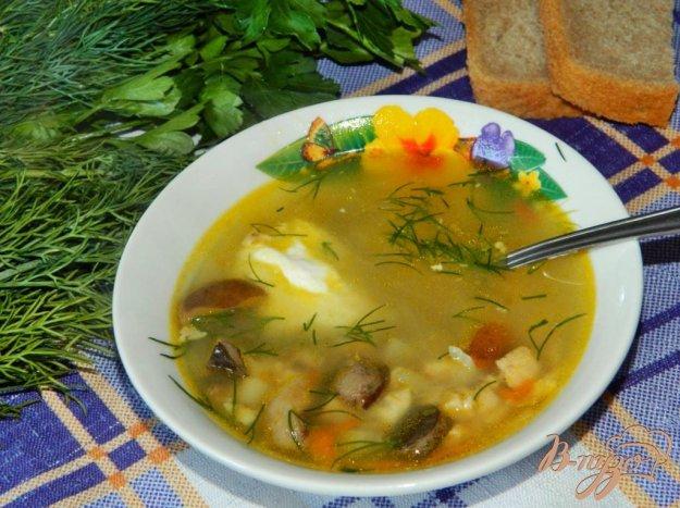 фото рецепта: Куриный суп с грибами
