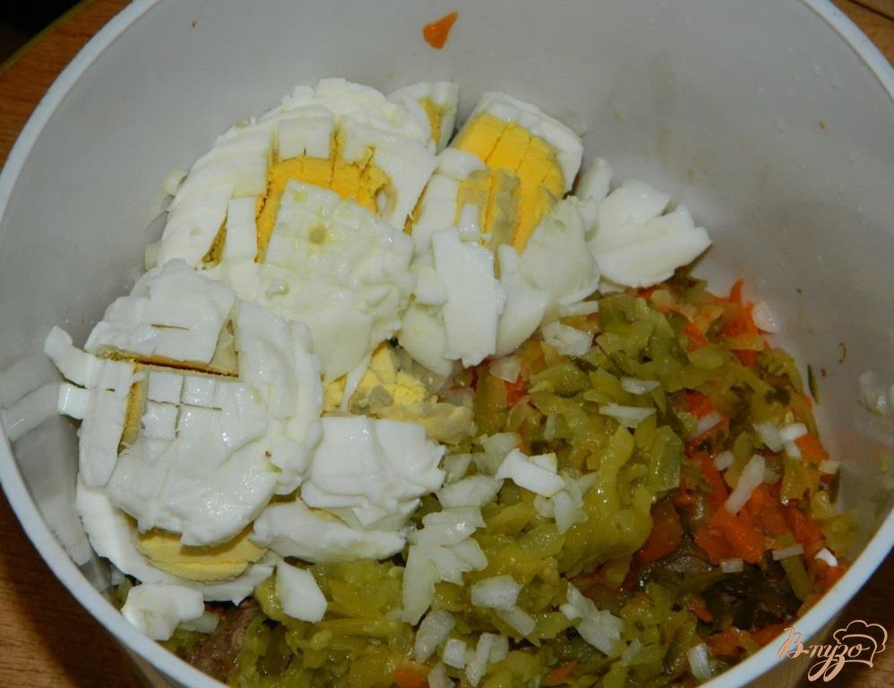 Салат из грибов сыра и корейской моркови