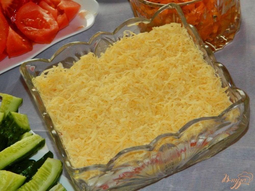 Салат кура крабовые палочки