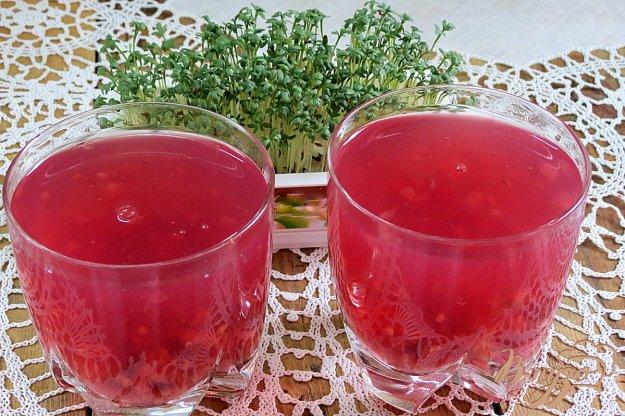 фото рецепта: Кисель с ягодами малины