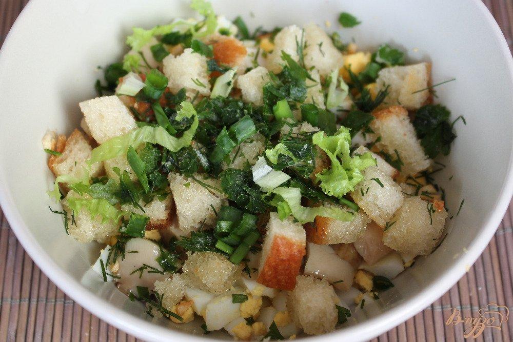 Рецепты салатов с с гренками и курицей