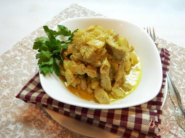 фото рецепта: Мясо тушеное с карри