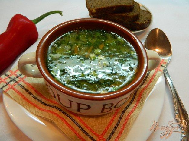 фото рецепта: Постный суп с зеленым горошком