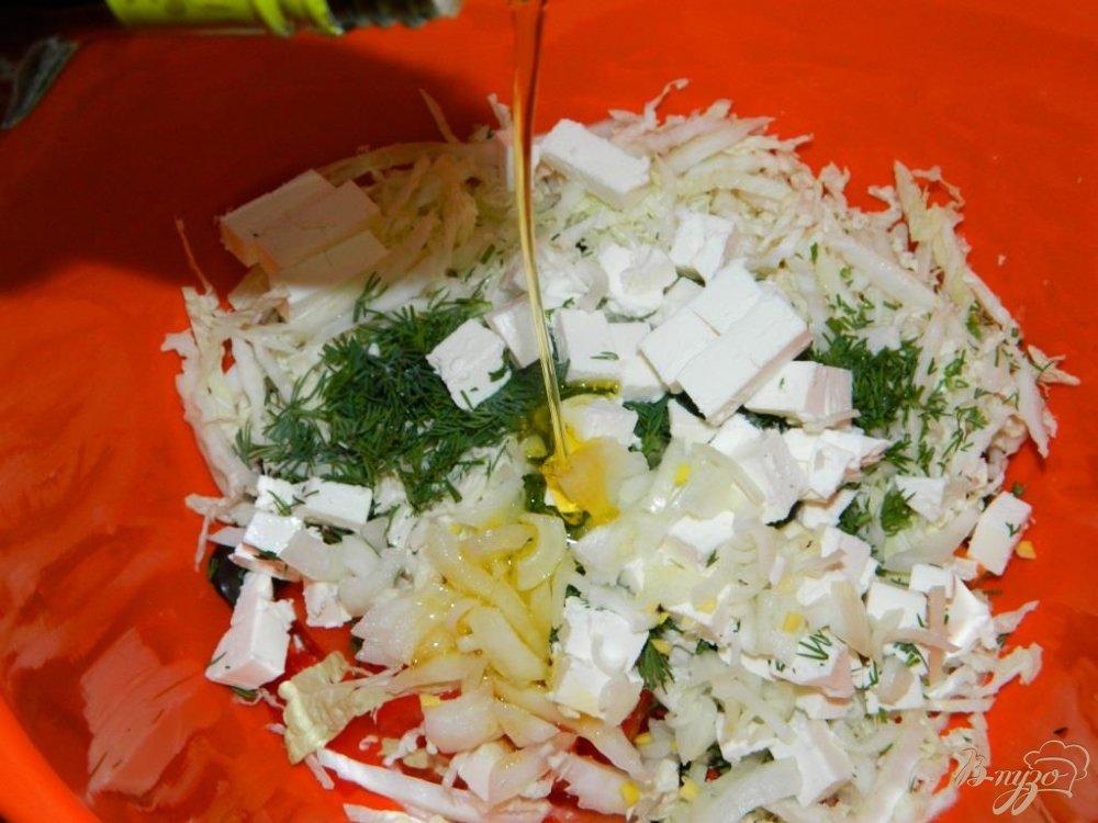 Салат из брынзы и оливок рецепт с