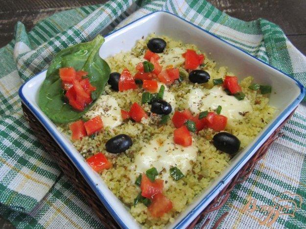 фото рецепта: Салат а-ля капрезе на кус-кусе