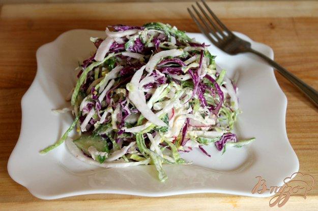 фото рецепта: Капустный салат с редисом и огурцами