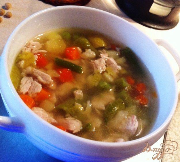 фото рецепта: Суп овощной с индейкой для деток