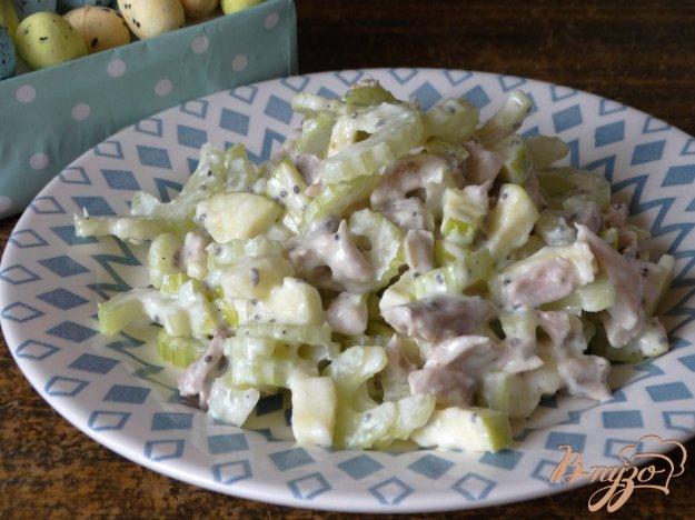 салат с креветок и яблок рецепт