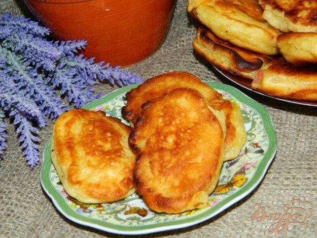 фото рецепта: Оладьи с творогом и яблоками