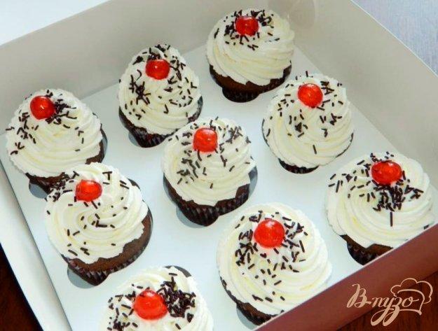 Капкейки шоколадные рецепт с фото пошагово