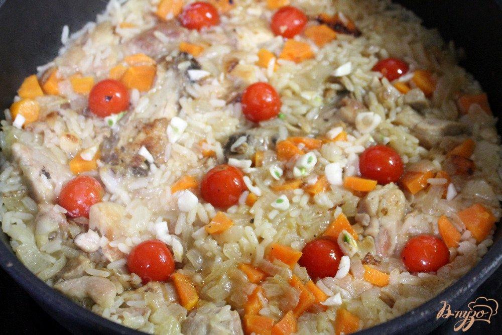 Рис с курицей и овощами в духовке рецепт с фото пошагово
