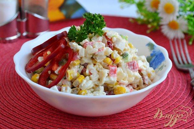 Салат с колбасой и крабовыми палочками рецепт с 64