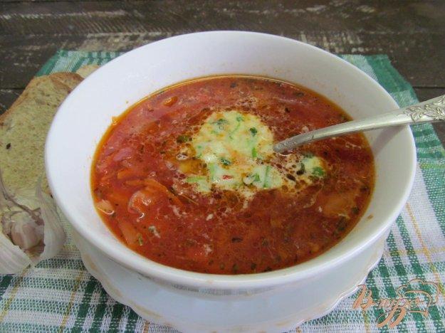 фото рецепта: Борщ с зеленым соусом