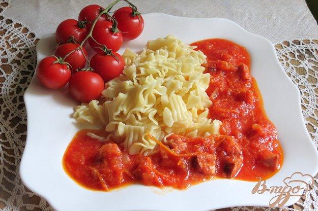 Рецепт сосиски с гарниром