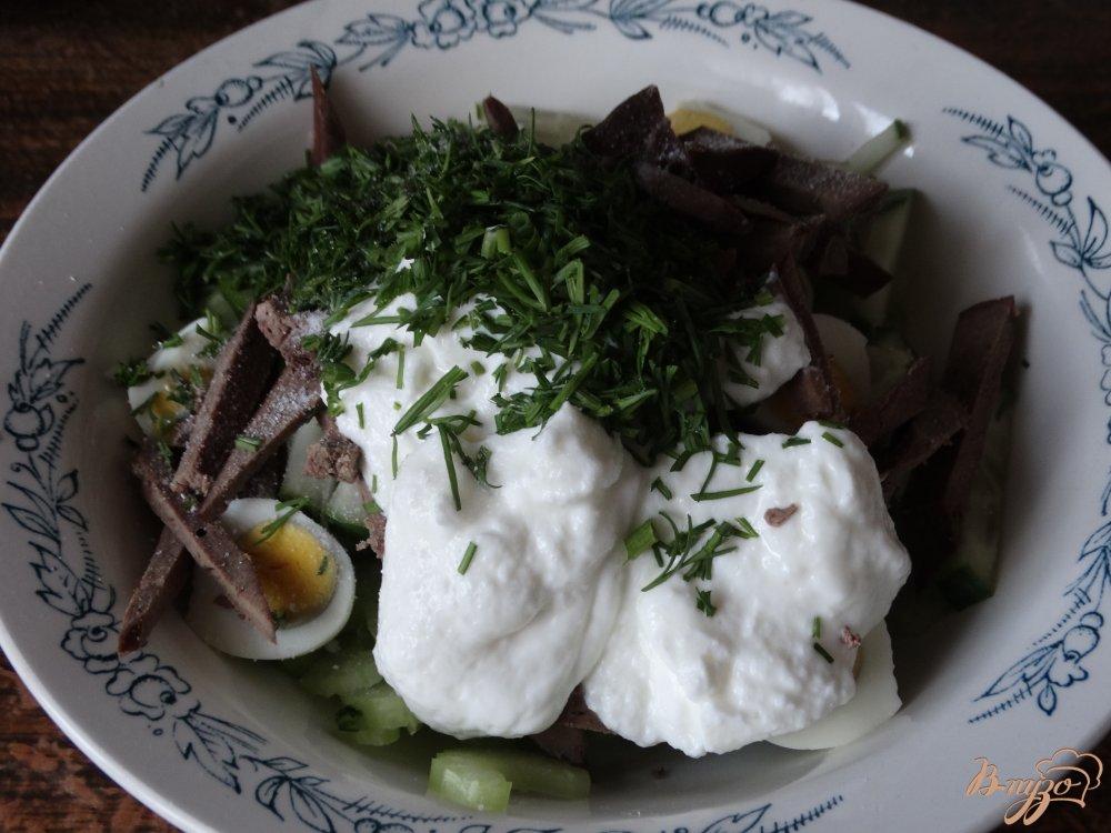 Салат из печени слоями с картофелем с