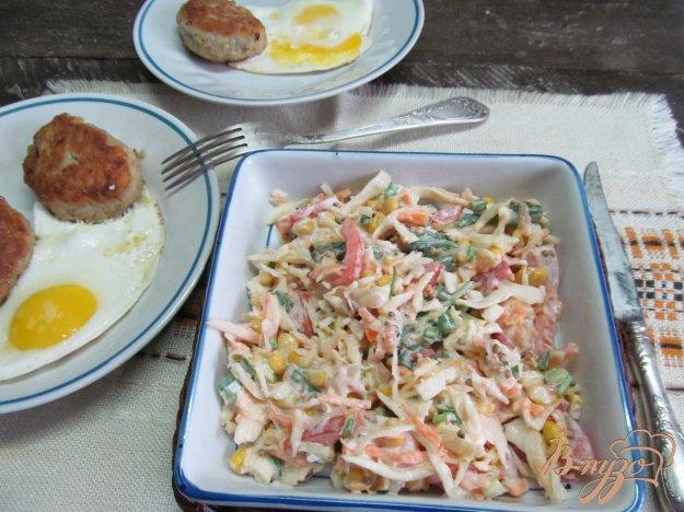 рецепт салата из болгарского перца и колбасы