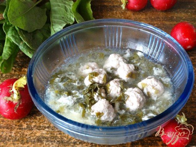 фото рецепта: Зеленый суп с фрикадельками