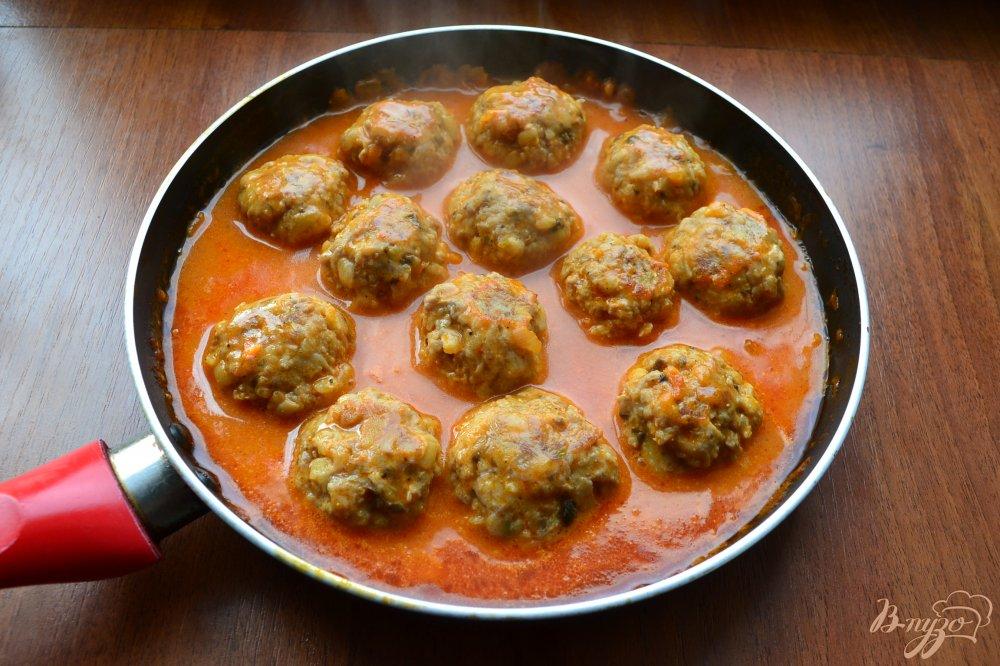 Тефтели в томатном соусе на сковороде пошаговый