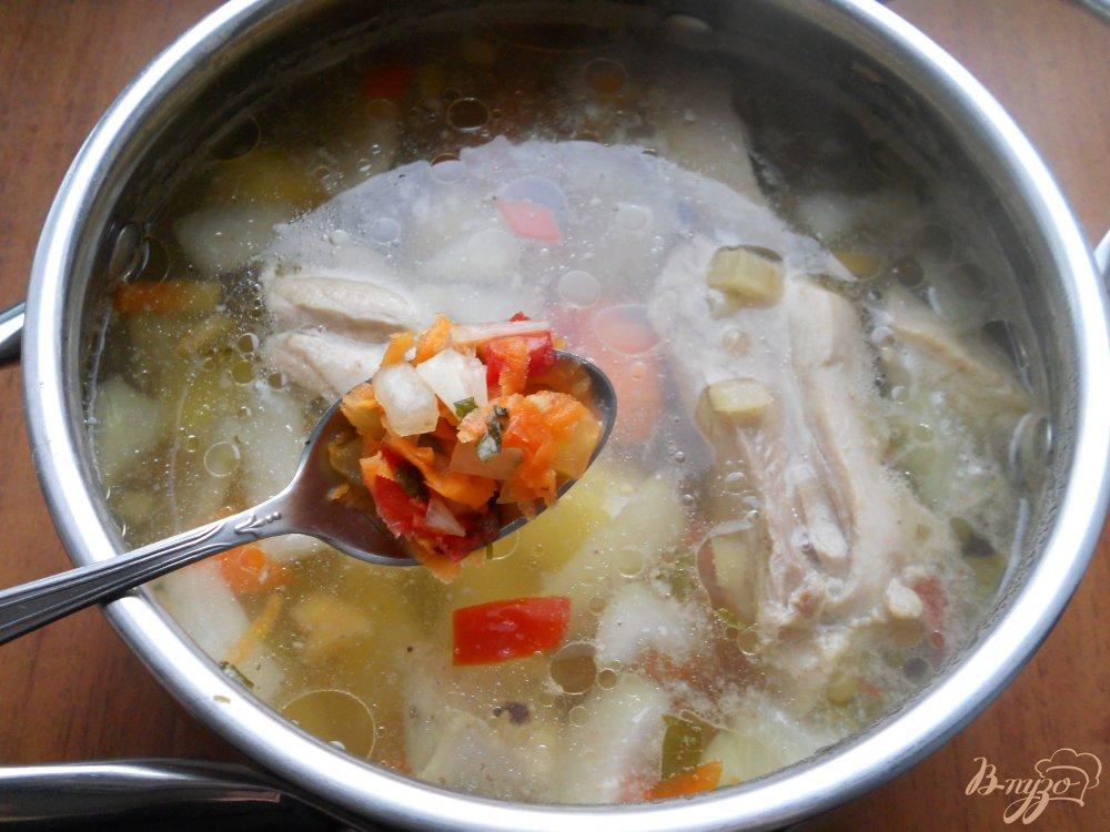 овощной с курицей суп рецепт с